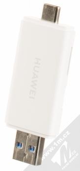 Huawei CF22R 2-in-1 Memory Card Reader originální čtečka microSD a NM Card karet s USB a Type-C konektory bílá (white) konektory