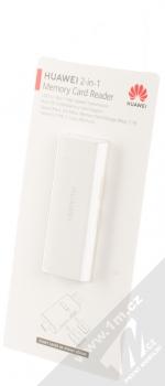 Huawei CF22R 2-in-1 Memory Card Reader originální čtečka microSD a NM Card karet s USB a Type-C konektory bílá (white) krabička