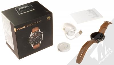 Huawei Watch GT 2 chytré hodinky hnědá (pebble brown) balení
