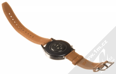 Huawei Watch GT 2 chytré hodinky hnědá (pebble brown) rozepnuté zezadu
