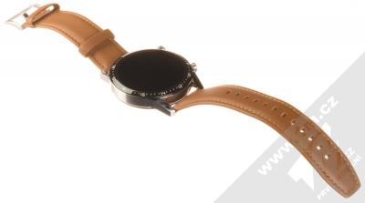 Huawei Watch GT 2 chytré hodinky hnědá (pebble brown) rozepnuté