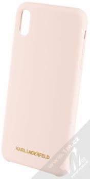 Karl Lagerfeld Silicone Logo ochranný kryt pro Apple iPhone XS Max (KLHCI65SLLPG) světle růžová (light pink)