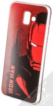 Marvel Iron Man 004 TPU ochranný silikonový kryt s motivem pro Samsung Galaxy J6 Plus (2018) červená (red)