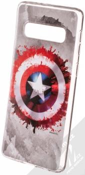 Marvel Kapitán Amerika 019 TPU ochranný silikonový kryt s motivem pro Samsung Galaxy S10 šedá (gray)