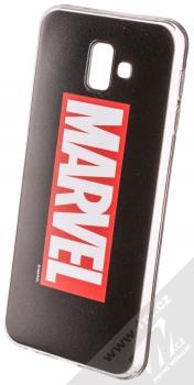 Marvel Logo 001 TPU ochranný silikonový kryt s motivem pro Samsung Galaxy J6 Plus (2018) černá (black)
