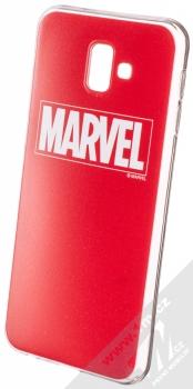 Marvel Logo 002 TPU ochranný silikonový kryt s motivem pro Samsung Galaxy J6 Plus (2018) červená (red)