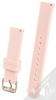 MiJobs Vertical Lines Silicone Wrist Strap silikonový pásek na zápěstí pro Xiaomi Amazfit Bip světle růžová (light pink) zezadu