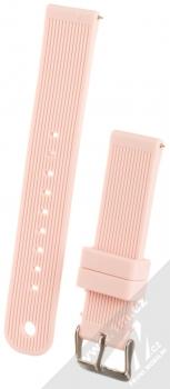 MiJobs Vertical Lines Silicone Wrist Strap silikonový pásek na zápěstí pro Xiaomi Amazfit Bip světle růžová (light pink)