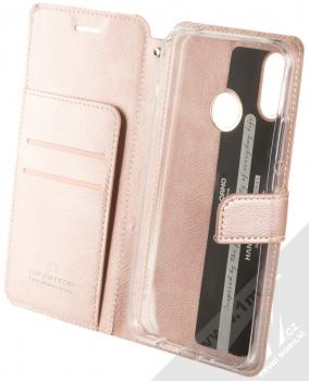 Molan Cano Issue Diary flipové pouzdro pro Huawei Nova 3i růžově zlatá (rose gold) otevřené