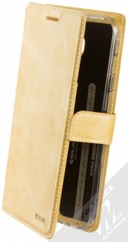 Molan Cano Issue Diary flipové pouzdro pro Samsung Galaxy J4 Plus (2018) zlatá (gold)