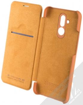 Nillkin Qin flipové pouzdro pro Huawei Mate 20 Lite hnědá (brown) otevřené