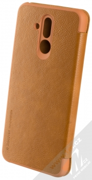 Nillkin Qin flipové pouzdro pro Huawei Mate 20 Lite hnědá (brown) zezadu