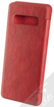 Nillkin Qin flipové pouzdro pro Samsung Galaxy S10 Plus červená (red) zezadu