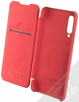 Nillkin Qin flipové pouzdro pro Xiaomi Mi 9 Lite červená (red) otevřené