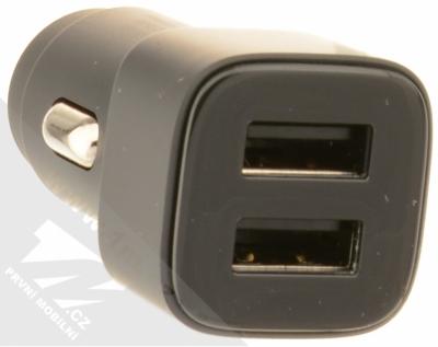 Nokia DC-301 Double USB nabíječka do auta s 2x USB výstupem černá (black) konektory