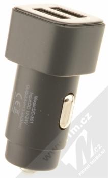 Nokia DC-301 Double USB nabíječka do auta s 2x USB výstupem černá (black) zezadu
