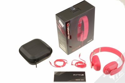 Nokia WH-930 Purity HD by Monster luxusní stereo sluchátka růžová (fuchsia) balení