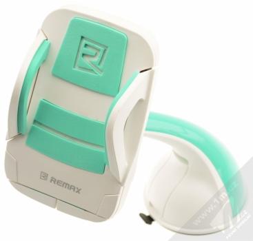 Remax RM-C04 univerzální držák do auta s přísavkou pro mobilní telefon, mobil, smartphone bílo zelená (white mint)