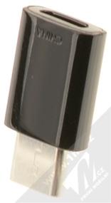 Samsung EE-GN930BB originální miniaturní redukce z USB Type-C na microUSB černá (black) zezadu