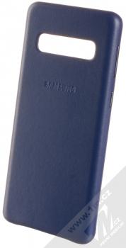 Samsung EF-VG973LN Leather Cover kožený originální ochranný kryt pro Samsung Galaxy S10 tmavě modrá (navy blue)