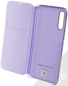 Samsung EF-WA307PB Wallet Cover originální flipové pouzdro pro Samsung Galaxy A30s černá (black) otevřené