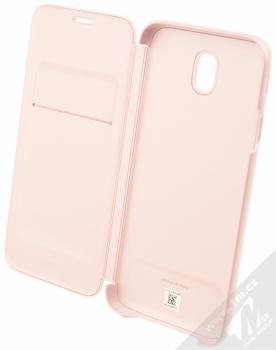 Samsung EF-WJ730CP Wallet Cover originální flipové pouzdro pro Samsung Galaxy J7 (2017) růžová (pink) otevřené
