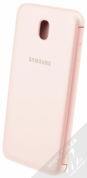 Samsung EF-WJ730CP Wallet Cover originální flipové pouzdro pro Samsung Galaxy J7 (2017) růžová (pink) zezadu