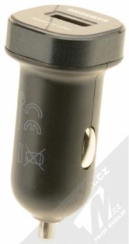 Samsung EP-LN930CB originální nabíječka do auta Fast Charge s USB výstupem a Samsung ECB-DU4EBE USB kabel s microUSB konektorem černá (black) nabíječka zezadu