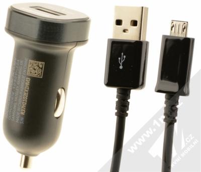 Samsung EP-LN930CB originální nabíječka do auta Fast Charge s USB výstupem a Samsung ECB-DU4EBE USB kabel s microUSB konektorem černá (black)