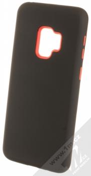 Sligo Defender Solid odolný ochranný kryt pro Samsung Galaxy S9 černá červená (black red)