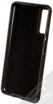 Sligo Liquid Glitter Black Jednorožec ochranný kryt s přesýpacím efektem třpytek pro Samsung Galaxy A7 (2018) růžově zlatá (rose gold) zepředu
