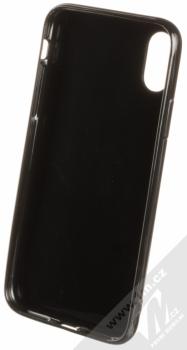 Sligo Magic TPU ochranný kryt s flitry pro Apple iPhone X černá (black) zepředu
