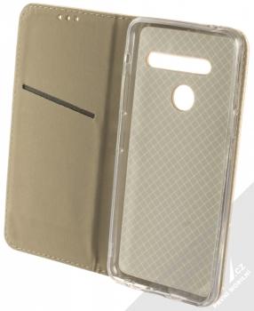 Sligo Smart Magnet flipové pouzdro pro LG G8 ThinQ zlatá (gold) otevřené