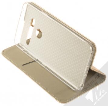 Sligo Smart Magnet flipové pouzdro pro LG G8 ThinQ zlatá (gold) stojánek