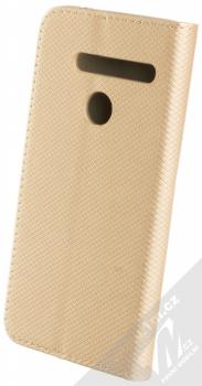 Sligo Smart Magnet flipové pouzdro pro LG G8 ThinQ zlatá (gold) zezadu