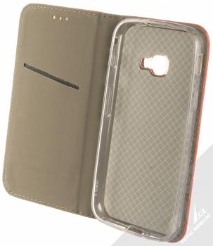 Sligo Smart Magnet flipové pouzdro pro Samsung Galaxy Xcover 4, Xcover 4S červená (red) otevřené