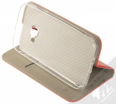 Sligo Smart Magnet flipové pouzdro pro Samsung Galaxy Xcover 4, Xcover 4S červená (red) stojánek