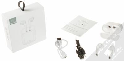 USAMS LC Wireless Bluetooth Headphones headset stereo sluchátka bílá (white) balení