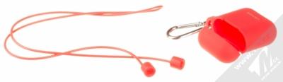 USAMS Silicone Protective Case silikonové pouzdro pro sluchátka Apple AirPods červená (red) balení
