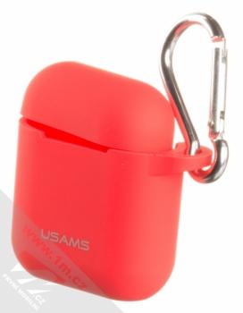 USAMS Silicone Protective Case silikonové pouzdro pro sluchátka Apple AirPods červená (red)