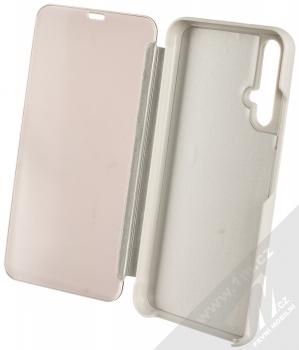 Vennus Clear View flipové pouzdro pro Honor 20, Huawei nova 5T stříbrná (silver) otevřené