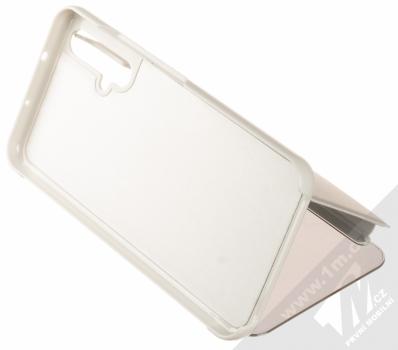 Vennus Clear View flipové pouzdro pro Honor 20, Huawei nova 5T stříbrná (silver) stojánek