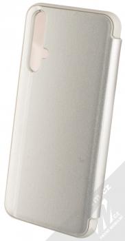 Vennus Clear View flipové pouzdro pro Honor 20, Huawei nova 5T stříbrná (silver) zezadu