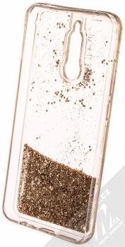 Vennus Liquid Glitter ochranný kryt s přesýpacím efektem třpytek pro Xiaomi Redmi 8 zlatá (gold) zepředu