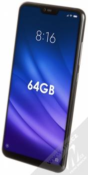 Xiaomi Mi 8 Lite 4GB/64GB černá (midnight black) šikmo zepředu
