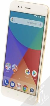 XIAOMI MI A1 4GB / 64GB Global Version CZ LTE zlatá (gold) šikmo zepředu