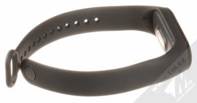 Xiaomi Mi Band 3 chytrý fitness náramek se senzorem srdečního tepu černá (black) rozepnuté zezadu