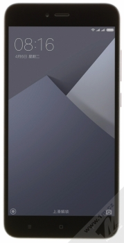 XIAOMI REDMI NOTE 5A 2GB/16GB Global Version CZ LTE tmavě šedá (dark grey) zepředu