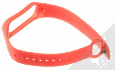 Xiaomi Strap silikonový pásek na zápěstí pro Xiaomi Mi Band 3 červená (red) rozepnuté zezadu