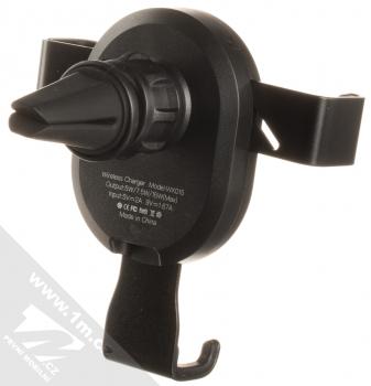 XO WX015 Car Holder Wireless držák s bezdrátovým nabíjením do mřížky ventilace automobilu černá (black) zezadu